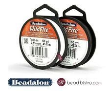 WILDFIRE by BEADALON (.006in) BEADING THREAD 50 YD / 125 YD -  BLACK / FROST