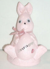 FROST PROOF STONE CONCRETE / EASTER BUNNY GIRLS GRAVE MEMORIAL CEMETERY ORNAMENT