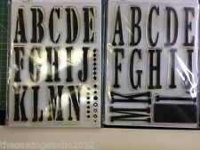 Alphabet Clear Stamps 7 Designs To Choose Paper/Card Craft Scrapbooking