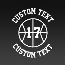 Basketball Team Customizable Text & Number Youth Classic Fit T-Shirt, S-XL