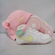 Nike Air Force 1 AF1 Crib Gift Pack LE CB Toddler Baby Beanie Hat white pink