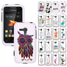 For Samsung Galaxy Rush M830 Collection DESIGN Rubberized Hard Cover Case #D1
