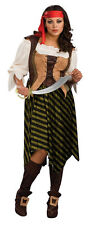Pirate Wench Caribbean Woman Fancy Dress Up Halloween Plus Size Adult Costume