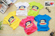 T-shirt Monkey Summer shirt Baby Girl Boy (for  2 ~ 7 years)