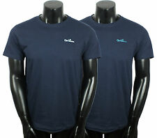 GIO GOI MENS CREW NECK TWIN PACK T-SHIRTS TOPS TEES NAVY RRP £30