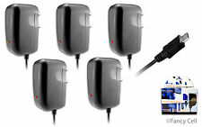 5 x New Micro USB AC Universal Battery Travel Home Wall Charger for Cell Phones