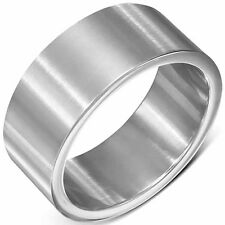 Urban Male Brushed Finish Stainless Steel Plain Band 10mm Ring For Men
