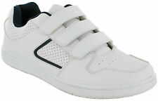 MENS BOYES CASUAL VELCRO TRAINERS SPORTS GYM RUNNING WALKING  SHOES UK SIZES