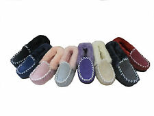 Australian Sheepskin Moccasins Lady's 8/ Men's 7 Multi Colours