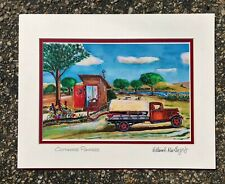 Outhouse Pumper Art Print  Ford Septic Truck Restroom Bath Plumbing Sewer Office