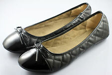 Womens Comfy Ballet Flats Casual Diamond Style Flat Shoes (Black) x 1 pair