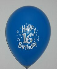 Birthday Party Balloons - 8 to a Package, Assorted Colors, Quality Round Latex