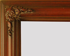 "PICTURE FRAME WOOD CLASSIC THIN 1.25"" WIDE CORNER ORNAMENTATION CHERRY ART PHOTO"