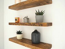 CHUNKY FLOATING SHELVES | RUSTIC WOOD SHELF | MANTEL TIMBER PINE