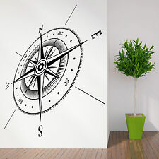 COMPASS North South East West Points Vinyl wall art sticker decal