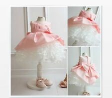 Christening Kids Bow Wedding Prom Babys Bridesmaid Flower Girls Babies Dresses