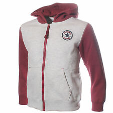CONVERSE Chuck Patch Full Zip Junior Kids Hoodie - Oatmeal / Gooseberry