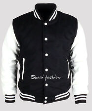 The Latest Men & Women Varsity Wool Letterman Jacket Real Leather Sleeves XS~3X