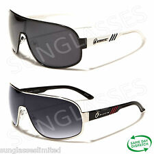 New Mens Ladies Unisex Black White Brown Oxigen Aviator Shield Sunglasses UV400