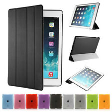 Ultra Slim Magnetic Leather Smart Cover For Apple iPad With Hard Back Case
