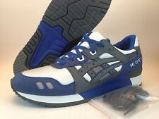 ASICS Gel Lyte III White Charcoal Grey Royal Blue HN538-0011 Ronnie Fieg Sz 9-13