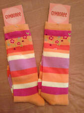 NWT Gymboree Snow Blossom Striped Knee Socks with Flowers 3-4