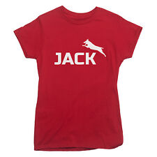 JACK RUSSEL Logo T-shirt funny dog owner puppy LADIES S-XXL