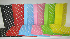 10 PolkaDot Lolly Candy Bags Party Favours Loot Lolly Party Bag - Candy Buffet