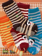 KIDS CHILDREN NON SLIP SOCKS age 2-5 PANDA Calf high socks toddler preshcooler