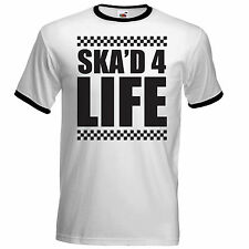 "Ska'd for Life Mens ringer Style T Shirt - Specials ""Tone Two Madness Ska"