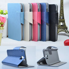 New Fashion Silk PU Leather Stand Case Cover For Alcatel One Touch OT-991