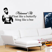 MUHAMMAD ALI WALL ART QUOTE STICKER DECAL GYM LOUNGE BEDROOM BOXING