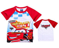 NEW DISNEY CARTOON ANIME MOVIE LIGHTNING MCQUEEN CARS 2 T-SHIRT 4 KIDS/BOYS