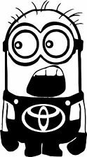 TOYOTA Minion Decal Sticker Car Decal Laptop Decal - Choice of Colors