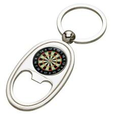 Darts Silver Coloured Bottle Opener Keyring - Mothers Day Fathers Day - free eng