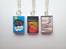 FAULT IN OUR STARS, KILL A MOCKINGBIRD, PERKS OF A WALLFLOWER MINI BOOK NECKLACE