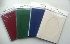 5 x Double Fold Card Blanks with Aperture & Envelopes - 203 x 150mm