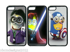 MINION SUPER HERO IPHONE 5 5S RUBBER PHONE CASE COVER, GIFT FOR ANY OCCASION