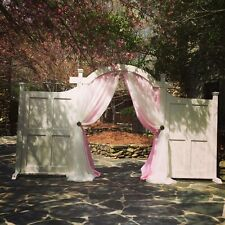 "Wedding drapes pink taffeta 58"" wide, non sheer, for baby showers, birthdays"