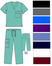 Medical Nursing Scrub Set UNISEX top pant sizes XS S M L XL 2XL Hopsital Uniform