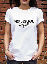 Professional Fangirl Tshirt Funny One Direction Harry Potter T Shirt J0924