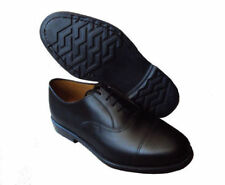 British Army Issue Black Leather Parade Shoes Mens Cadet With Toe Cap All Size