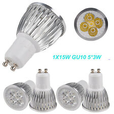 Ultra Bright 15W 5X3W GU10 LED Spot Light Ceiling Down Lamp Warm Cool White Bulb