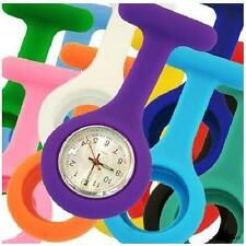 Gel Silicone Fob Nurse Watch - Choose Your Colour, Brooch & Battery