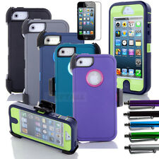 Film+Defender Case Outer Otter Shell Cover w/ Belt Clip Holster for iPhone 5 5S