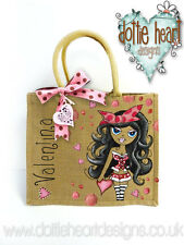 Personalised Jute Bag Hand Painted VALENTINA XL