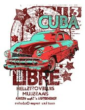 CUBA LIBRE IRON ON T SHIRT TRANSFER / SUMMER PARTY HOLIDAY COCKTAIL BEACH DESIGN