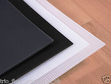Correx Corrugated Fluted Plastic Floor Protection Sheets: select colour & rating