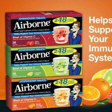 Airborne® Immune Support, Blast of Vitamin C, 36 Effervescent Tablets, 3 Flavors