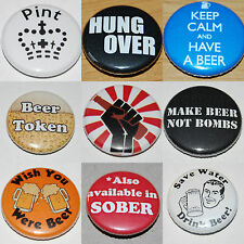 Beer & Drinking Button Badge 25mm / 1 inch - Student / Stag / Fun / Humour
